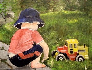Boy and Truck